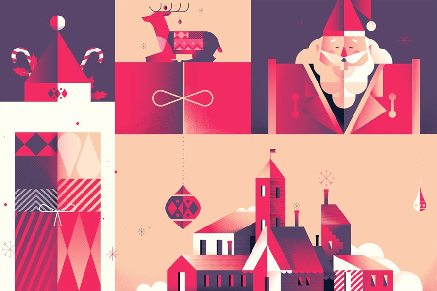 Festive Christmas Mockups for Holiday Promotions